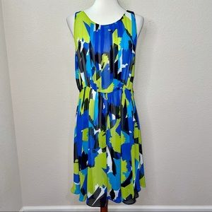 Vince Camuto Pleated Front Dress Size 10